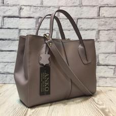 """Forta"" bag genuine leather, lavender colour"