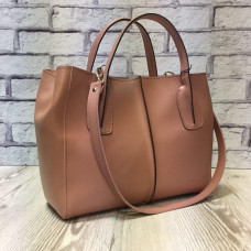 """""""Forta"""" bag genuine leather, pink colour"""