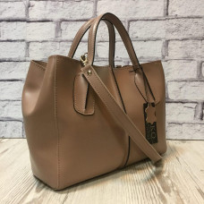 """Forta"" bag genuine leather, latte colour"