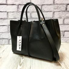 """""""Forta"""" bag genuine leather, black colour (portofino)"""