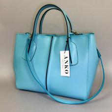 """Forta"" bag genuine leather, turquoise colour (portofino)"