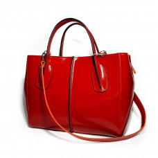 """""""Forta"""" bag genuine leather, red color"""