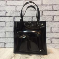 """Garda"" bag genuine leather, black colour"