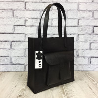 """Garda"" bag genuine leather, black colour (portofino)"