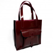 """Garda"" bag genuine leather, burgundy color"