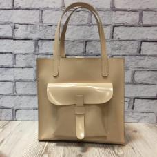 """Garda"" bag genuine leather, ivory colour"