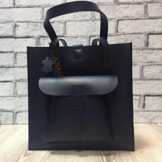 """Garda"" bag genuine leather, blue colour"