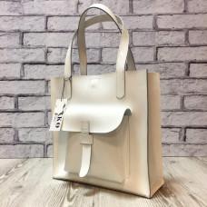 """""""Garda"""" bag genuine leather, white colour"""