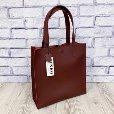 """Garda"" bag genuine leather, burgundy colour"