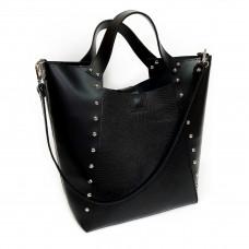 """Holly"" bag genuine leather, black colour"