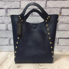 """Holly"" bag genuine leather, blue colour"