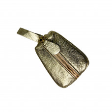 "Key holder ""Kia"" genuine leather, gold color"