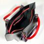 """""""Kristal"""" bag genuine leather, black color"""
