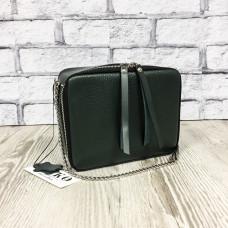"""Kvadro"" bag genuine leather, green colour"