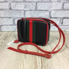 """Kvadro"" bag genuine leather, black colour"