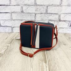 """Kvadro"" bag genuine leather, blue colour"