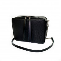 """Kvadro"" bag genuine leather, black color"