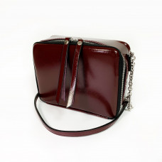 """Kvadro"" bag genuine leather, burgundy color"