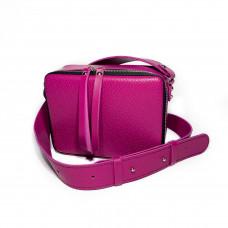 """""""Kvadro"""" bag genuine leather, fuchsia color"""