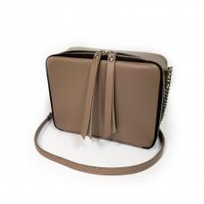 """Kvadro"" bag genuine leather, cappuccino color"