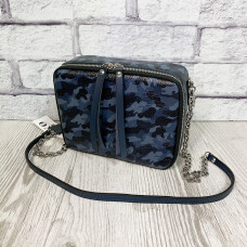"""Kvadro"" bag genuine leather, blue color"