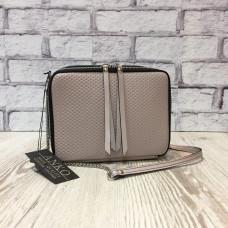 """Kvadro"" bag genuine leather,  bright lavender colour"