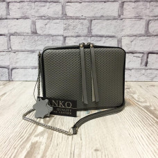"""Kvadro"" bag genuine leather, grey color"