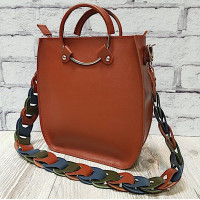 """Malva"" bag genuine leather, colour of pottery clay"