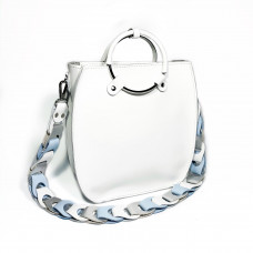 """Malva"" bag genuine leather, white color"