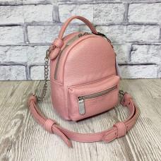 "Bag-backpack ""MINI"" genuine leather, pink color"