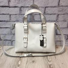"""MONACO"" Bag genuine leather, white colour"