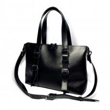 """MONACO"" Bag genuine leather, black color"