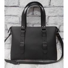 """MONACO"" Bag genuine leather, black super mat colour"