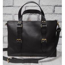 """MONACO"" Bag genuine leather, black colour"