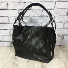 """Nata"" bag genuine leather, black colour"