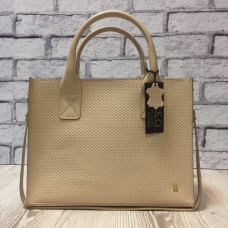 """Nova"" bag genuine leather, ivory colour"