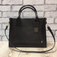 """Nova"" bag genuine leather, black colour"