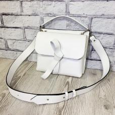 """Odry"" bag genuine leather, white color"