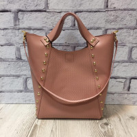 """Holly"" bag genuine leather, pink colour"