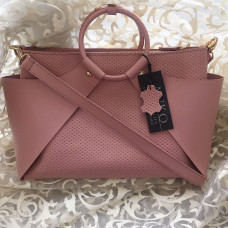 """Ronda"" bag genuine leather, pink colour"