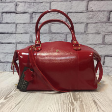 """Verona"" bag genuine leather, red color"