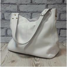 """Eva"" bag genuine leather, white colour"