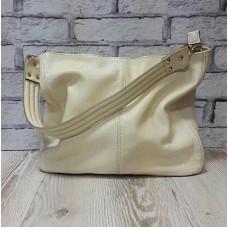 """Eva"" bag genuine leather, ivory colour"