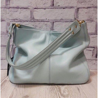 """Eva"" bag genuine leather, blue colour"