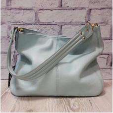"""""""Eva"""" bag genuine leather, blue colour"""