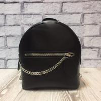 """Shine"" backpack  genuine leather, black colour"