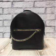 """Shine"" backpack  genuine leather, black colour"