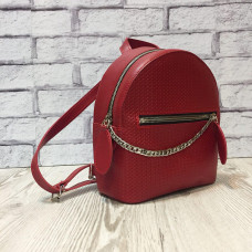 """Shine"" backpack  genuine leather, red colour"