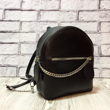 """Shine"" backpack  genuine leather, black colour (portofino)"