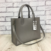 """SOLO"" bag genuine leather, grey colour"
